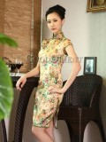 Stunning flower design Chinese dress