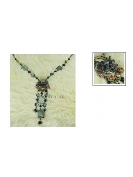Imitated Tibetan Necklace---Black Shell