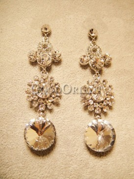Luxury sunflower earrings