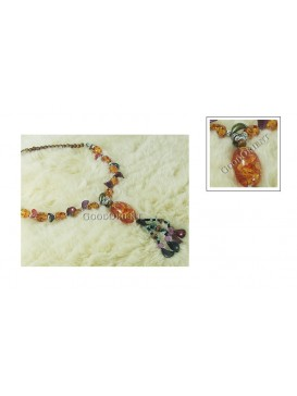 Imitated Tibetan Necklace---Amber