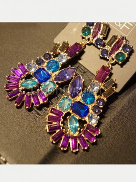 Colorful baroque design earrings