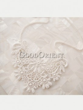 Unique flower lace necklace