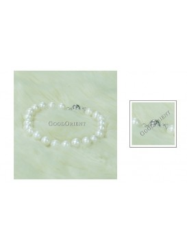 Pure White Freshwater Pearl Bracelet---