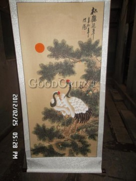 Traditional Chinese Painting Scroll-Red Crowned Crane