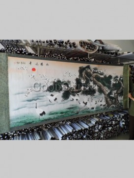 Exquisite Chinese Painting Scroll-Red Crowned Crane