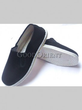 Charming black cotton sole shoes