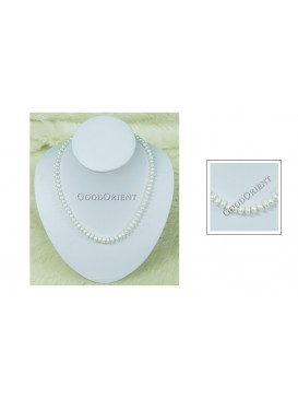 Oblate Freshwater Pearl Necklace