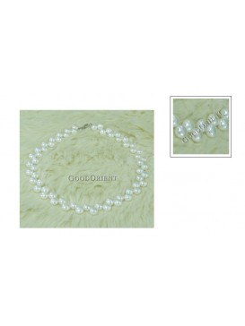 Double-row White Freshwater Pearl Necklace