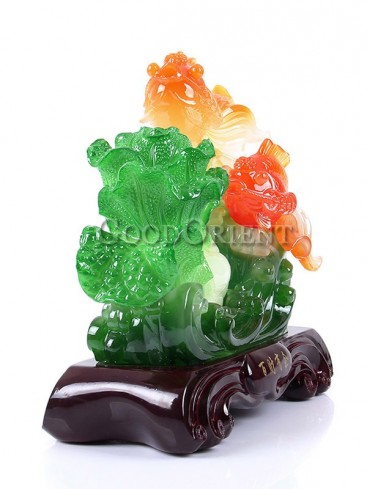 Perfect Jade Cabbage & Carp Decoration