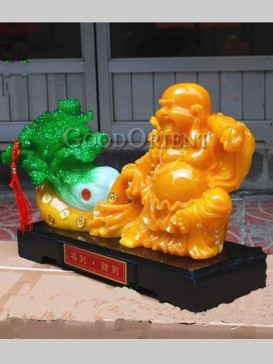 Exquisite Jade Cabbage&Smiling Maitreya Decoration