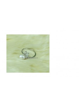 Apple White Freshwater Pearl Ring