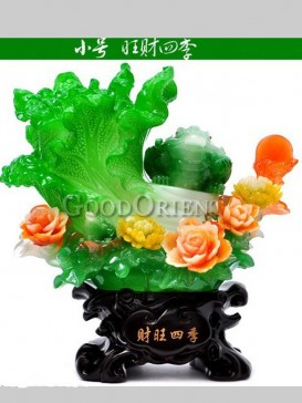 Charming Jade Cabbage Decoration