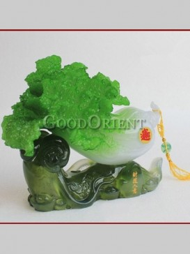 Lucky Jade Cabbage Decoration