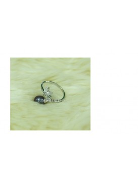 Apple Black Freshwater Pearl Ring