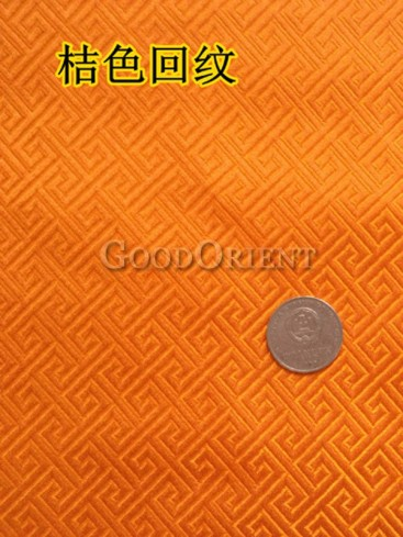 Oriental style check pattern brocade fabric