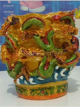 "Exquisite ""Nine-dragon Screen"" koji Pottery"