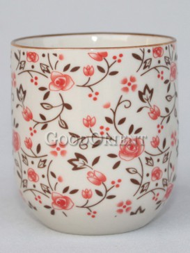 Japanese porcelain flower tea cup