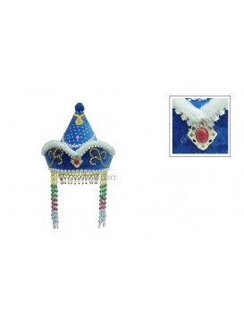 Pretty Mongolia Girl Hat---Blue
