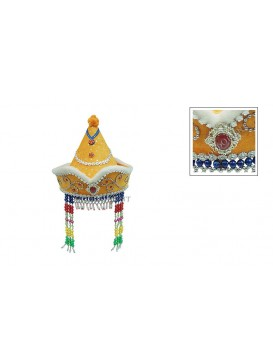 Pretty Mongolia Girl Hat---Orange