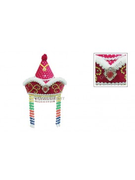 Pretty Mongolia Girl Hat---Pink