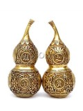 Exquisite Brass Double Gourd Statue
