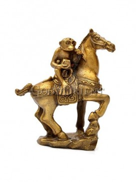 Classical Brass Lucky Statue Series-Monkey Riding A Horse