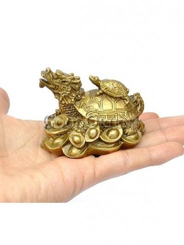 Lucky Brass Statue series-Dragon Turtle