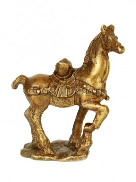 Delicate Brass Statue Series-Sycee On the Horse