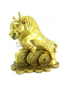 Delicate Brass Statue Series-Cattle