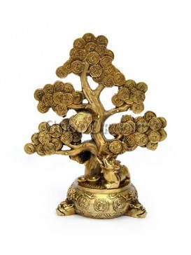 Delicate Brass Statue Series--Lucky Tree