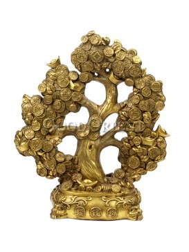 Auspicious Brass Statue Series-Lucky Tree