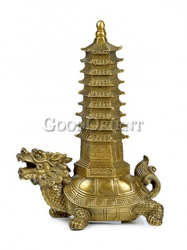 Auspicious Brass Statue Series-Wenchang Tower