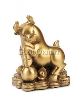 Lucky Brass Statue series-Cattle