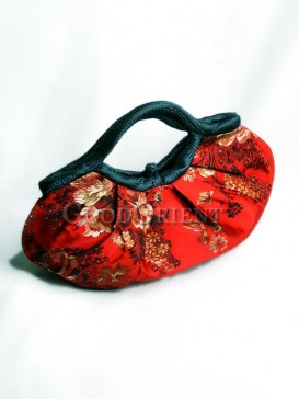 Cornflower Brocade Handbag