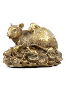 Delicate Brass Statue Series-Rat