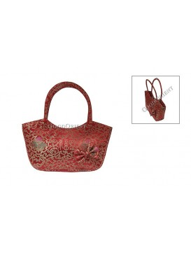 Red Blessing Brocade Hand Bag