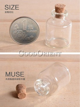 White Crystal Glass Wishing Bottle