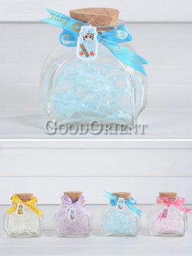Clear Crystal Glass Wishing Bottle