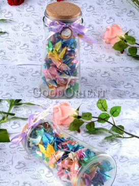 Charming Paper Cranes Wishing Bottle