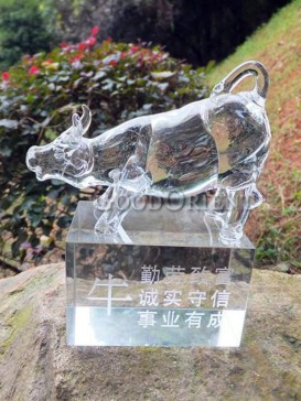 Crystal Cattle Decoration