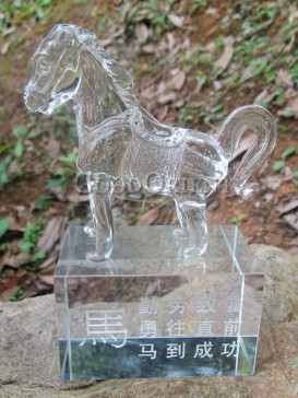 Crystal Horse Decoration