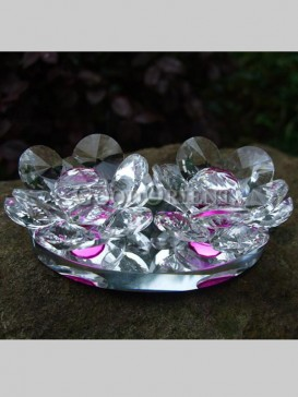Superb Double Lotus Crystal Decoration