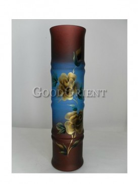 Hand-Painted Floral Pottery Vase