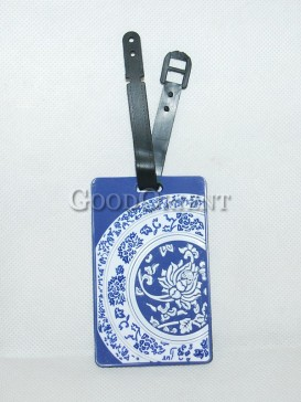 Chinese Style Plastic Card Cover-Blue and White Porcelain