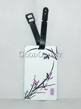 Chinese Style Plastic Card Cover-Orchid