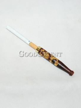 Chinese Dragon Wood Cigarette Holder