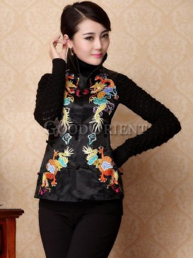 Ceremonious Double Dragon Women Vest