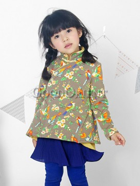Cute Magpie Pattern Girl Clothing