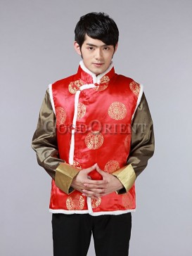 Chinese Fu&Shou Vest-Red