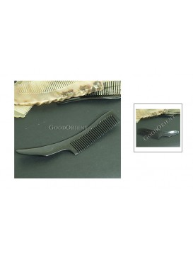 Tibetan Natural Buffalo Horn Carved Comb Gift---Black Curve